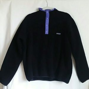 Patagonia fleece sweater snap t pullover large